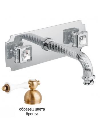 Смеситель встраиваемый для раковины Cezares Olimp-BLS2-02-Sw Swarovski бронза