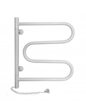 Полотенцесушитель электрический Navin Змеевик поворотный 600x500 белый